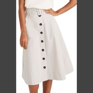 Madewell Trench Circle Skirt NWT Size 4